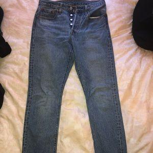 Levi's 501 Skinny Jeans Light Wash 28 x 28